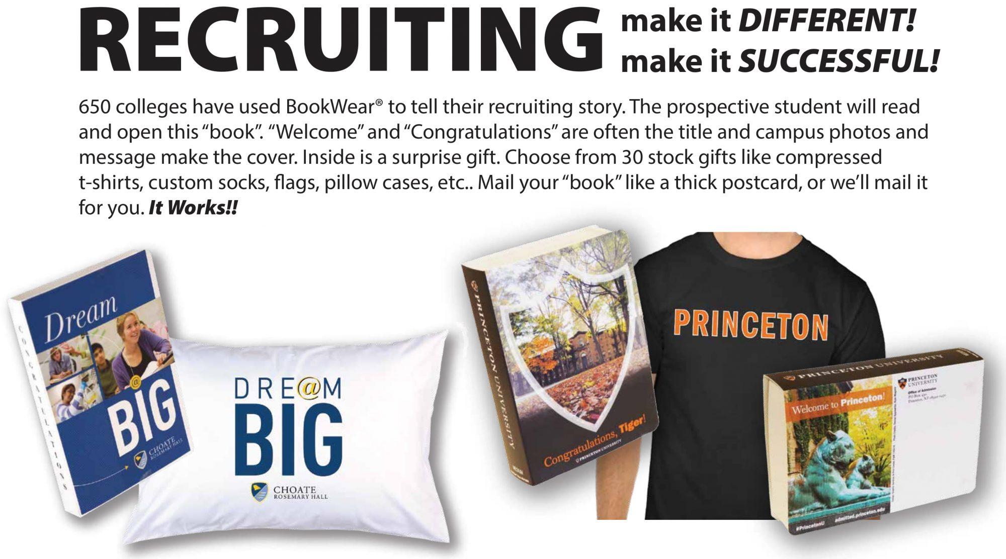college recruiting bookwear